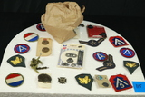 Assorted Military Patches & Buttons