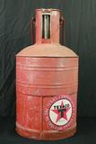 Texaco 5 Gallon Can, With Gauge & Handle