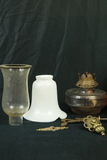 Box Of Misc. Lamp Globes