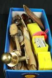 Box Of Antique Door Hardware & Nails