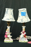Pair Of Colonial Style Lamps