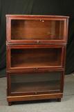 3 Part Mahogany Barrister Bookcase