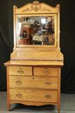 Antique Oak Dresser & Mirror