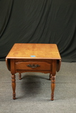 Drop Leaf End Table With Drawer