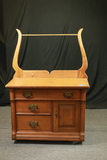 Oak Wash Stand With Towel Bar