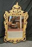 Gold Plastic Framed Mirror