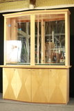 Modern Maple China Cabinet