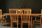 Modern Maple Dining Table With 6 Chairs & 1 Leaf