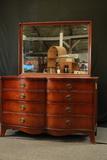 1950's Mahogany Dresser With Mirror