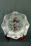 Pressed Glass Fluted Plate