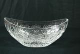 Oval Crystal Bowl