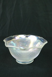 Iridescent Bowl With Fluted Top