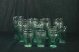 11 Coca Cola Glasses, Various Sizes