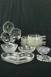 5 Glass Leaf Trays & 5 Misc. Glass Trays
