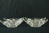 4 Pressed Glass Oval Bowls