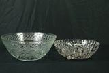 2 Pressed Glass Bowls