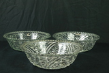 3 Pressed Glass Bowls