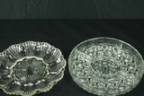 Pressed Glass Egg Dish & Divided Tray