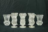 9 Crystal Vases