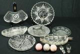 3 Trays, Divided Tray, 3 Stone Eggs, & 3 Plates