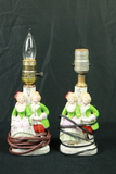 2 Colonial Style Porcelain Lamps