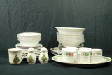 Assorted Pieces Of Christmas China