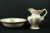 Bowl & Pitcher With Colonial Scenes