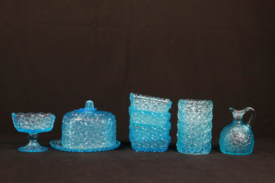 Blue Glass Dishes
