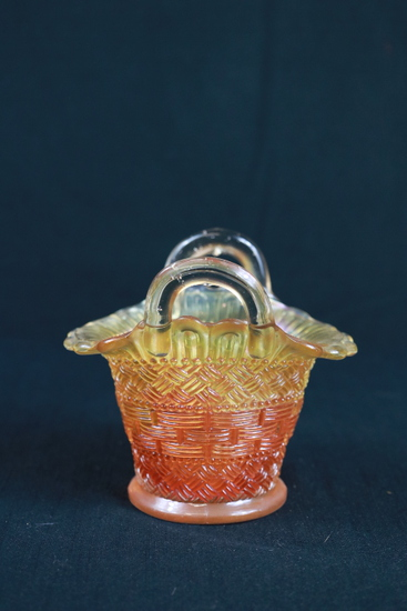 Carnival Glass Basket