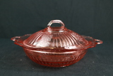 Depression Glass Serving Bowl With Lid
