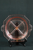Pink Depression Glass Divided Tray