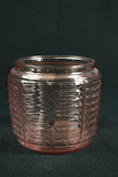 Pink Depression Glass Cookie Jar With No Lid