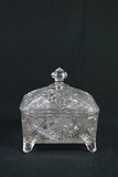 Pressed Glass Covered Box