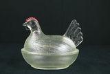 Glass Hen On The Nest