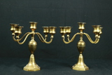 Pair Of Brass Candleabras
