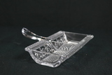 Pressed Glass Divided Tray