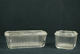 2 Glass Refrigerator Boxes