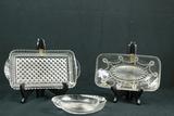 3 Glass Trays