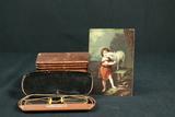 Pair Of Vintage Glasses & Music Box