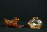 Glass Shoe & Glass Piggy Bank