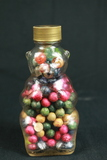 Glass Bear Filled With Antique Marbles