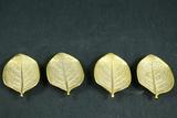 4 Brass Leaves