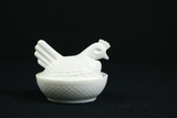 Milk Glass Hen On The Nest