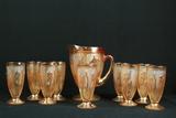 Iris & Herringbone Pitcher & 9 Glasses