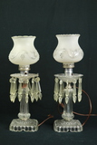 Pair Of Electric Lamps With Prisms