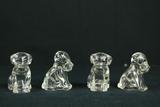 Antique Glass Candy Holder Dog