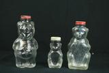 3 Glass Bears