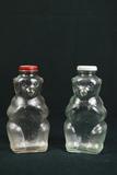 2 Glass Bears