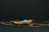 Horn & Pair Of Antique Tongs