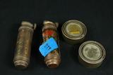 2 Miniature Antique Fire Extinguishers
